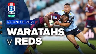 Waratahs v Reds Rd.6 2021 Super rugby AU video highlights