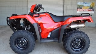 8. 2016 Honda FourTrax Foreman Rubicon 500 DCT ATV - WALK AROUND VIDEO : TRX500FA5G
