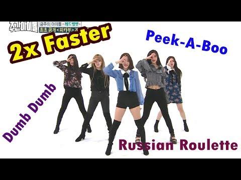 Red Velvet 2X FASTER - Dumb Dumb + Russian Roulette & Peek-A-Boo [WEEKLY IDOL] - Thời lượng: 7:52.