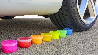 Aplastando Líquidos de Distintos Colores!