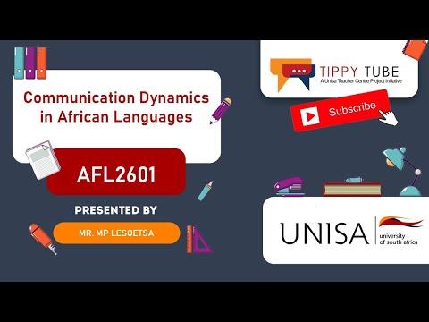 AFL2601 Communication Dynamics in African Languages - Mr MP Lesoetsa
