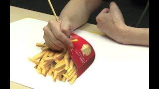 【超スゴイ動画】お腹が空いても食べられない超スゴい3Dアート映像!