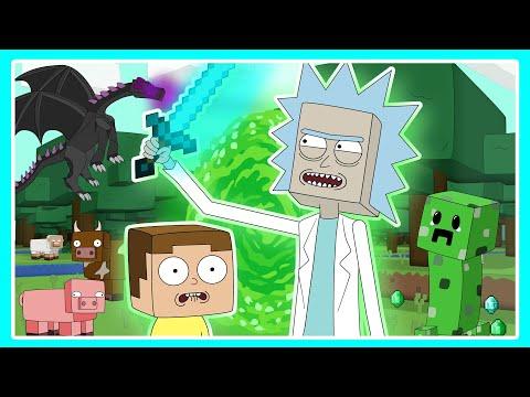 Rick and Morty play Minecraft (Parody Animation)