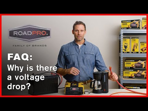Power Inverter FAQ #3 - Why is there a voltage drop when using high watt devices?