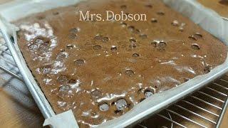 Double Chocolate Brownies./Resep Membuat Brownies Panggang.
