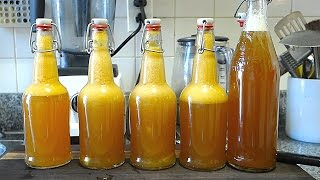 Beginners Guide To Fermentation: Bottling + Flavoring Kombucha by Brothers Green Eats
