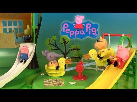 Peppa Pig Jouets Aire de Jeux Toboggan Balançoire Cabane dans l'Arbre