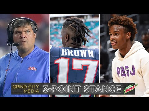 Matt Luke fired from Ole Miss, Antonio Brown, Bronny Jr. over-hyped? | 3-Point Stance - Ep 8