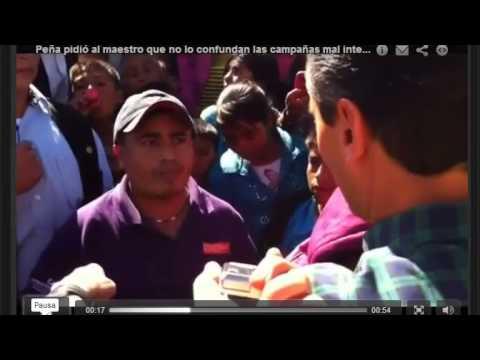 Maestro de Guerrero cuestiona a Peña Nieto por Reforma Educativa