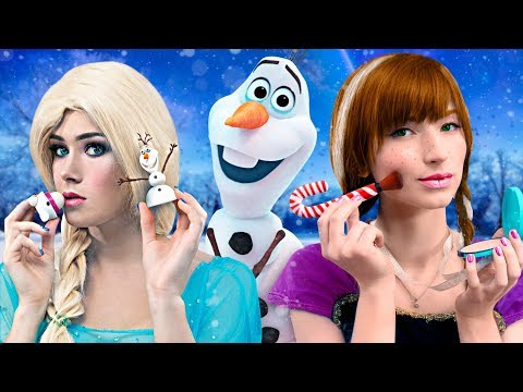 9 MAQUILLAGES LA REINE DES NEIGES / ELSA vs ANNA : LE CHALLENGE !