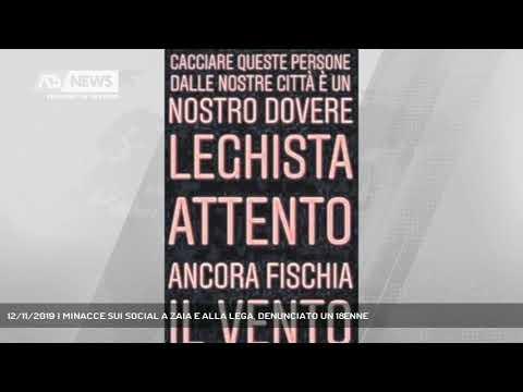 12/11/2019 | MINACCE SUI SOCIAL A ZAIA E ALLA LEGA, DENUNCIATO UN 18ENNE