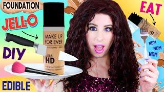 DIY EDIBLE Foundation Jello Pudding Bottle | EAT Foundation | How To Make GIANT EATABLE Foundation! by GlitterForever17