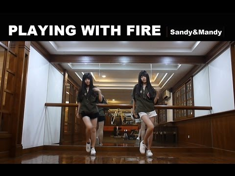 BLACKPINK - '불장난 (PLAYING WITH FIRE)'  By Sandy&Mandy (dance Cover)