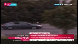 Pope Francis' motorcade on Mombasa Road