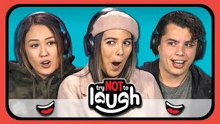 Video YouTubers React to Try to Watch This Without Laughing or Grinning #14 MP3, 3GP, MP4, WEBM, AVI, FLV Maret 2019