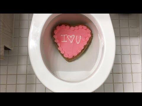 Will it Flush? - Valentine's Day Cookie Cake