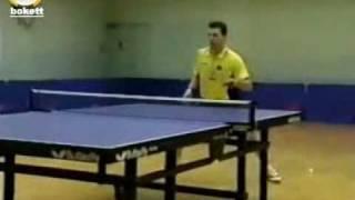 Timo Boll  тренировка с большим количеством мячей