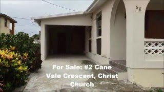 Christ Church Barbados  city images : For Sale Cane Vale Crescent #2 Christ Church