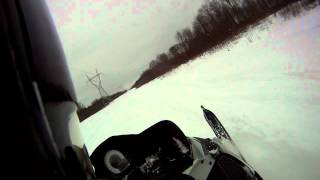 7. RIDING IN DEEP SNOW WITH A 07 ARCTIC CAT F6 WITH GO PRO