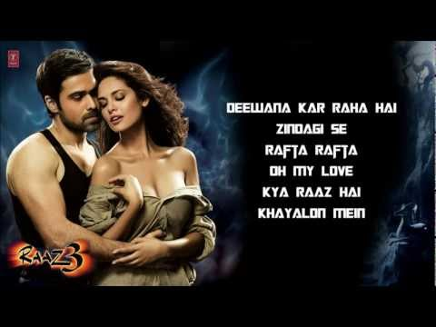 Jukebox - CLICK ON LINKS TO PLAY A SONG Buy Raaz 3 songs on iTunes : https://itunes.apple.com/us/album/raaz-3-soundtrack-from-motion/id561400885 Enjoy full songs of up...