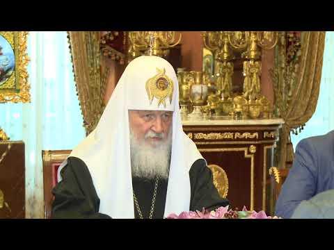 Președintele Igor Dodon a avut o întrevedere cu Patriarhul Moscovei și al Întregii Rusii, Chiril