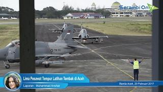 Lima Pesawat Tempur Latihan Tembak di Udara Aceh