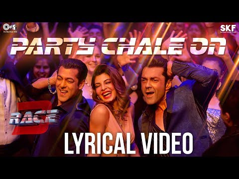 Party Chale On Song with Lyrics - Race 3 | Salman