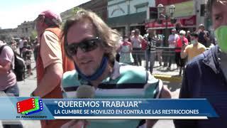 PANDEMIA: VIDEO CON LA PROTESTA DE LOS COMERCIANTES EN CAPILLA