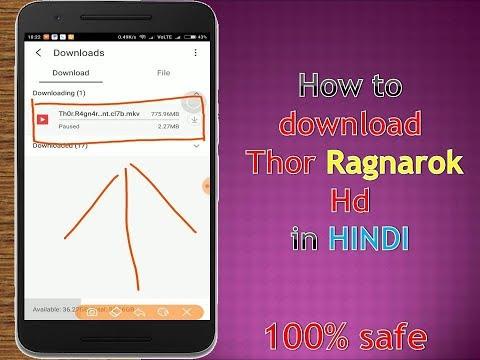How to download Thor Ragnarok full 720p hd  dual audio Hindi