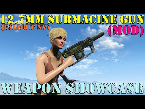 Fallout 4: Weapon Showcases: 12.7mm Submachine Gun (Mod)