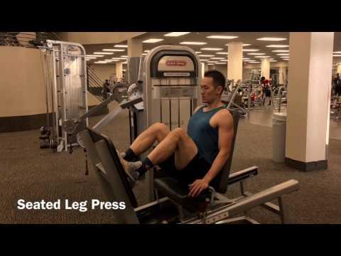 Leg strength gym machines