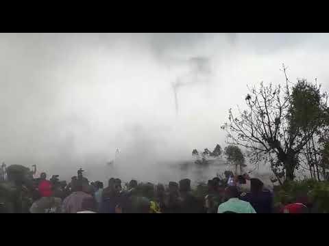 Route-Goma Rutshuru coupée par la lave du Volcan Nyiragongo.visite des membres du gouvernement.