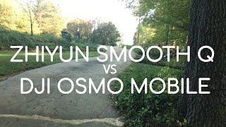 DJI Osmo Mobile vs Zhiyun Smooth Q Gimbal Comparison with Ipho...