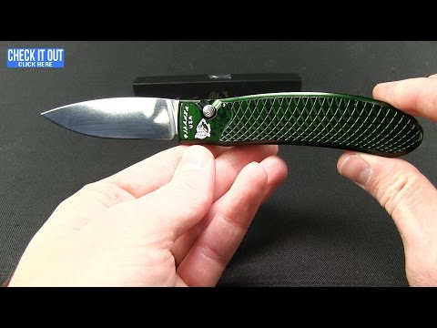 "Piranha Toxin Automatic Knife Silver (3.75"" Black Serr)"