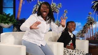 Ellen Stuns Viral Kid Singer Bri'Anna Harper & Her Family
