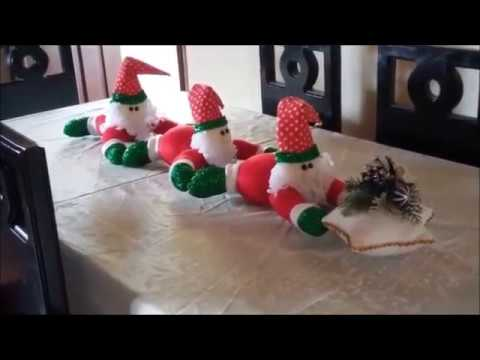 centrotavola natalizio in feltro