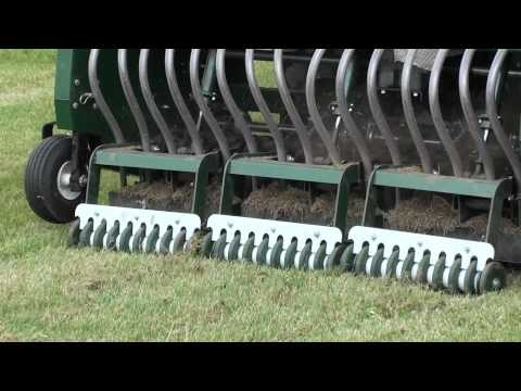 Turf Overseeding - mechanical slit machine