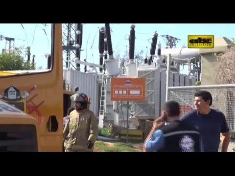 Se incendia subestación de Ande en Lambaré