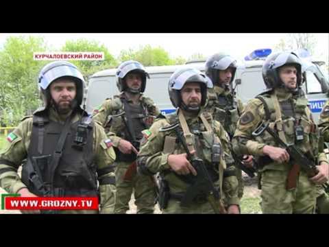 Спецподразделения Курчалоевского и Веденского районов провели совместные учения - DomaVideo.Ru
