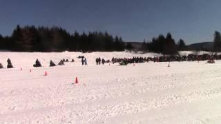4. Arcitic Cat 120 vs Polaris 120 vs Arctic Cat 120 long track drag race
