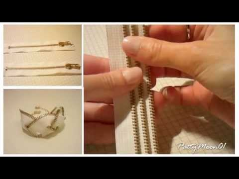 DIY Bracciale con zip / zip bracelet ( easy )
