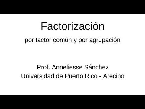 Vídeos Educativos.,Vídeos:Factorización (1)