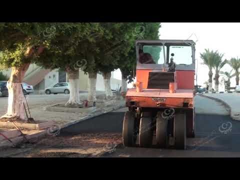 تواصل أعمال صيانة الطرق بالمخطط العام العجيلات
