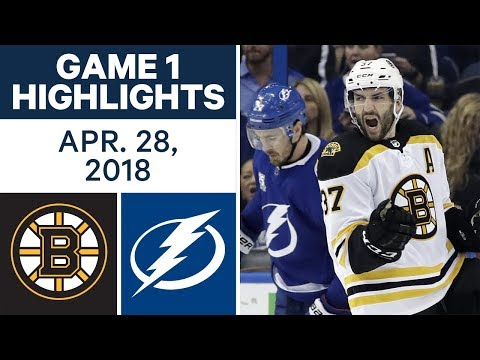 Video: NHL Highlights | Bruins vs. Lightning, Game 1 - Apr. 28, 2018