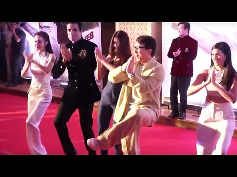 Jackie Chain Danced With  Sonu Sood | Disha Patani | Amyra Dastur At  Kung Fu Yoga  Promotion 2017