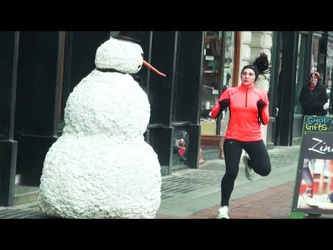 Funny Scary Snowman Prank Season 4 Episode 4 – Boston
