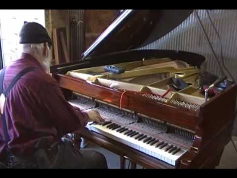 chickering piano - Final tuning for tone quality.