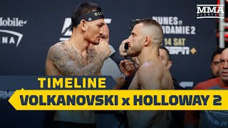 UFC 251 Timeline: Alexander Volkanovski vs. Max Holloway 2 - MMA Fighting by MMA Fighting