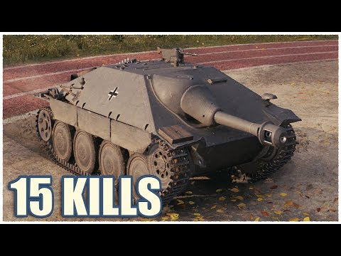Hetzer • 15 KILLS • WoT Gameplay