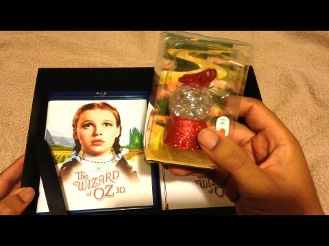 The Wizard Of Oz 75th Anniversary Collector's Edition Blu-Ray 3D Unboxing